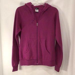 EUC Nike zip up hooded sweatshirt